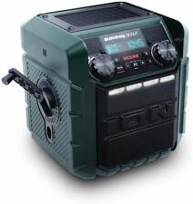 ION Survival Scout Solar-Charging Hand Crank Weather Radio Bluetooth Speaker