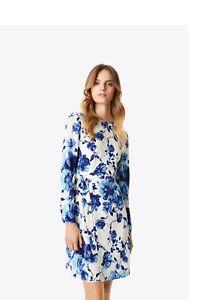 Tory Burch Giovanna Dress Rosemont Floral Silk  6 S M