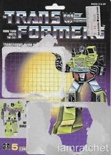 Transformers Original G1 Constructicon Long Haul Card Back w/ Tech Spec