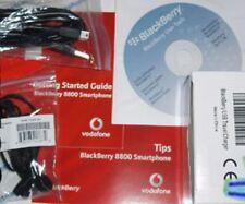 Blackberry 8800 il manuale del software CD Caricabatterie Auricolare dati