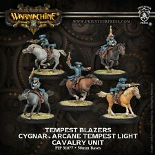 Warmachine Cygnar Tempest Blazers Cavalry Unit Pip 31077 Used - Out of Box