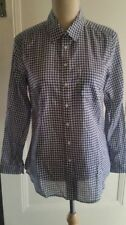 Cotton Blend Checked Long Sleeve Tops & Blouses for Women