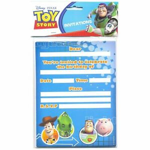 TOY STORY INVITATIONS INVITES BIRTHDAY PARTY SUPPLIES PACK OF 8