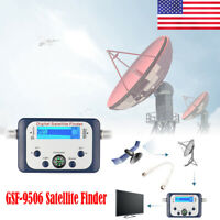 Satellite Finder Meter Analog Signal For Direct TV SAT Dish Sky Freesat US Black