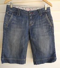 Riders by Lee Women's Blue '57930' Knee Length Jean Shorts - Size 11