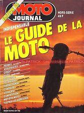 MOTO JOURNAL HS 'Le Guide de la Moto 1986' Achat Equiper Rouler Compétition