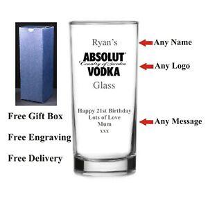 Personalised Hi ball Vodka Glass, Birthday Gift,18th 21st 30th 40th 50th 60th