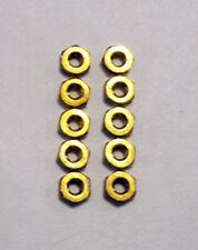 """#2 NUT - BRASS 5/32"""" x 1/16"""" HEX , 2-56 Thread - Lot of (10) Hex Head Nuts (NEW)"""