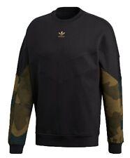 Adidas Men's Crew Neck Jumper Originals Sweater Long Sleeve Camouflage Chevron