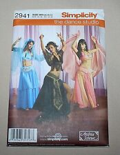 Simplicity 2941 Misses Belly Dance Costumes Veil Halter Skirt HH 6 8 10 12 New