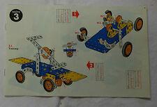 Meccano n° 3 manuel d'instruction 1967