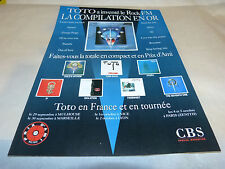 TOTO - Publicité de magazine / Advert !! DISCOGRAPHIE !!!
