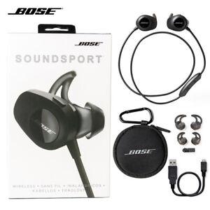 Bose SoundSport wireless bluetooth headphones earphone black