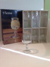 Saxony fine cyrstal from Poland, set of 6 Goblet glasses Vienna, #4117 340 Ml