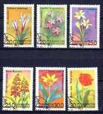 Flore - Fleurs Ouzbékistan (86) série complète de 6 timbres oblitérés