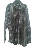 RoundTree Yorke Men's XLT Long Sleeve Button Down Shirt Red Black Plaid