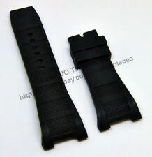 30mm Black Rubber Watch Band Strap - Comp. IWCWatch Ingenieur Family IWC5005501