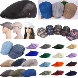 Man Flat Golf Driving Hat Fashion Breathable Mesh Cap Peaked Sunhat Beret Casual