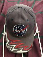 American Needle NASA Kennedy Space Center Baseball Cap Hat Flame Logo