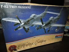 MONOGRAM 1/72nd SCALE F-82 TWIN MUSTANG MODEL KIT # 6062 SEALED BUT DUSTY