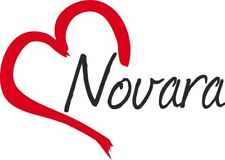 """Adesivo per auto """" NOVARA """" (Città) cuore Sticker ca.9x13 cm taglio contorno"""