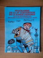 PROGRAMME DE LA 14 e CONVENTION DE LA BANDE DESSINEE 25 et 26 septembre