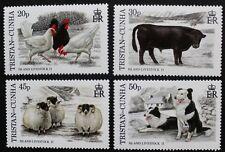 Island livestock, 2nd series stamps, 1997, Tristan da Cunha, SG ref: 620-623 MNH
