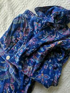 RALPH LAUREN WOMEN'S PL Lightweight Flannel Cotton Pajama Set Blue