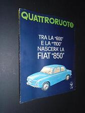 QUATTRORUOTE 98 febbraio 1964 renault 4 L   rivista ottima