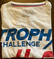 TOM TAILOR YACHTING Herren T-Shirt Gr M Weiß Motiv TROPHY CHALLENGE #5
