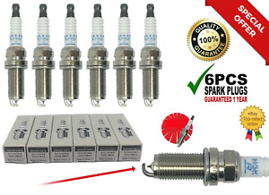 6PC Laser Iridium Spark Plug PLFR5A11 22401-5M015 FOR VQ35 VQ40 3.5L 4.0 NGK🔥