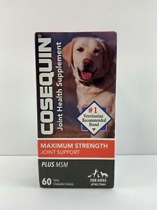 Cosequin  Plus MSM For Dogs 60 Chewable Tablets by Nutramax 06/2023