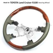 TOYOTA Land Cruiser 100 Series 03-07 FJ100 OEM Steering Wheel Leather Wood Grain
