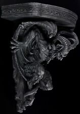 Teufel Wandkonsole - Gothic Dämon Wanddeko Wandregal schwarz