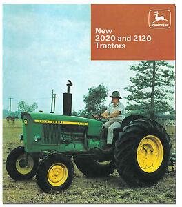 John Deere 2020 2120 Tractor Brochure 1967 to 1972