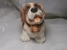 Adorable 1984 Stone Critters St Bernard Rescue Dog With Barrel United Designs