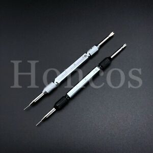 2 X Watch Repair Spring Bar Tool Steel Link Remover Pin Pusher with Tips Ruler