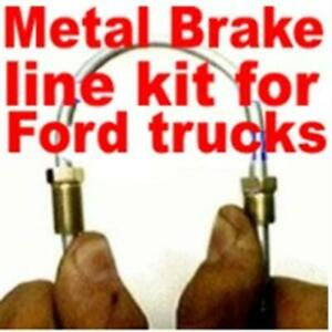Metal brake line replacement kit Ford Truck 1973 -1996 1997 1998 1999 2000 2001