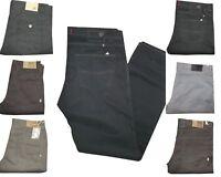 Pantaloni Uomo 5 Tasche Jeans Invernali Regular Fit Fustagno Gamba Dritta Casual