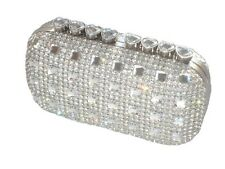 Bling Diamond Crystal Diamante Evening bag Clutch Purse Bride Wedding Party Prom