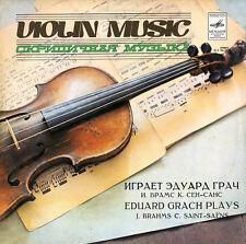 EDUARD GRACH Violin BRAHMS Sonata SAINT-SAENS Havanaise Etude Introduction $4S&H