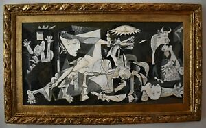 Amazing Pablo Picasso. framed. oil on canvas. signed.