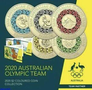 Australia 2020 Tokyo Olympics $2 Coins in Folder FREE POSTAGE
