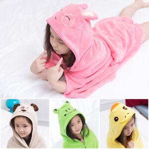 120 x 120cm Cute Baby Hooded Bathrobe Soft Infant Newborn Towels Blanket Cartoon