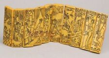 Antiqued Oriental Art Shunga Erotic Collectible Exquisite Resin Engraving Book