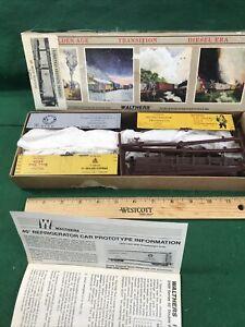 HO 3 Pack Walthers 40' Beer Reefer W/Wood Ends Kit NOS Nice (HO86128)