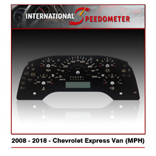 2008 - 2018 Chevrolet Express Van Speedometer Faceplate (MPH)