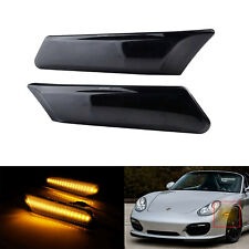 For Porsche 911 987 997 Cayman 2005-12 Smoked Side Marker LED Front Signal Light