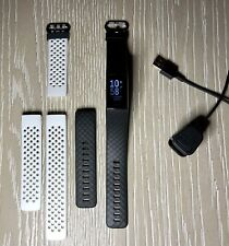 Fitbit Charge 4 Activity Tracker - Black - Black and White Band Included