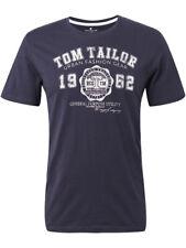 Tom Tailor Herren Rundhals Kurzarm T-Shirt Logo Print Regular S M L XL XXL 3XL